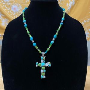 Vintage 925 Sterling Silver Turquoise Necklace💙